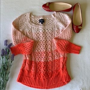 American Eagle pink ombré sweater size small